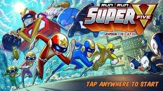 Trò chơi siêu nhân Run Run Super V chạy lụm vàng biến hình Robot đánh trùm