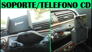 Probando soporte/base para telefono en el auto (review)