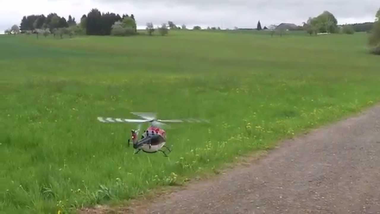 Bo105 ERA Helicopter   RC Heli T Rex500 1. Rundflug   YouTube
