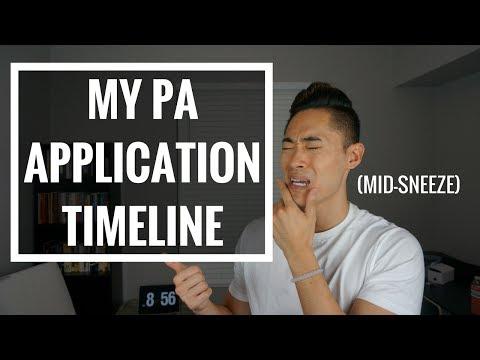 Pre-PA   My PA School Application Timeline!