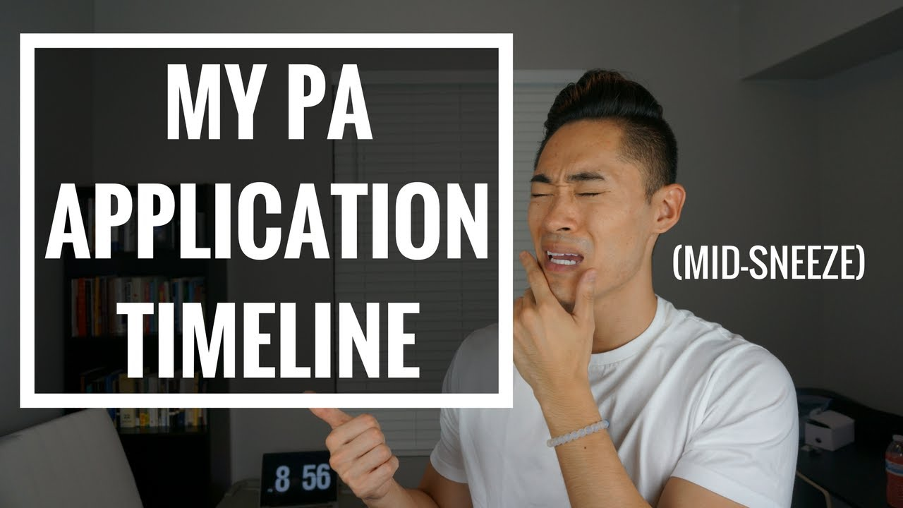 Pre-PA | My PA School Application Timeline!
