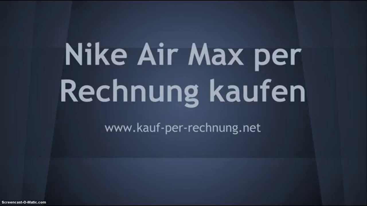 nike air max rechnung bestellen
