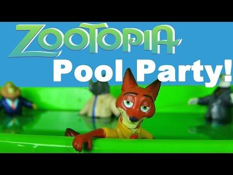 Disney Zootopia Pool Party! || Disney Toy Reviews || Konas2002