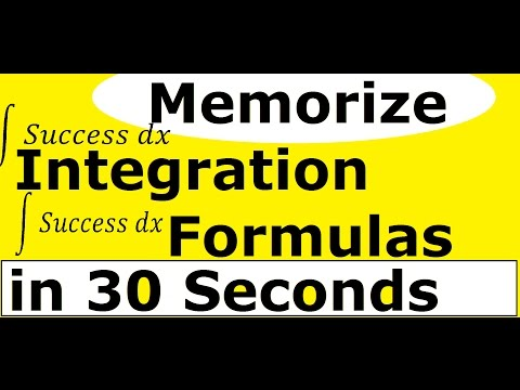 Maths Integration Formula Pdf