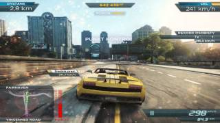 Need For Speed : Most Wanted 2012 - LAMBORGHINI GALLARDO Downtown Run (267km/h)