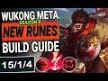 WUKONG NEW RUNES META BUILD GUIDE   WUKONG TOP   INSANE ONE SHOTS   SEASON 8 League of Legends