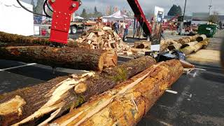 Video still for Cone Splitter Demonstration at Oregon Logging Conference 2019