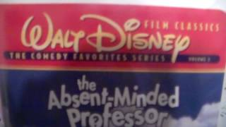 Two Different Versions Of The Absent Minded Professor On VHS