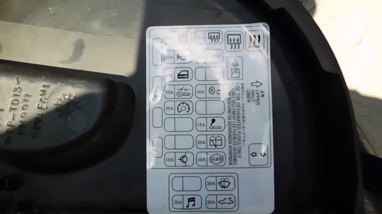 mitsubishi eclipse fuse box location and diagram - youtube  youtube
