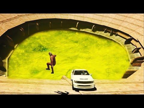 GTA 5 FUNNY MOMENTS - ACIDPOOL DEATH DERBY! (GTA 5)