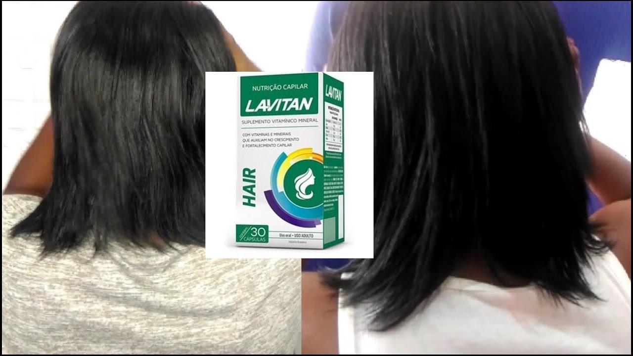 cc35d767c3 LAVITAN HAIR 1 Mês de Uso! Funcionou  O cabelo Cresceu  Minha Avaliação