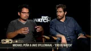 Jake Gyllenhaal & Michael Peña Talk Brotherhood In 'End Of Watch'