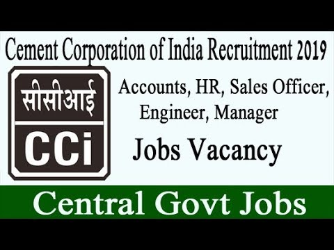 Cement Corporation of India Recruitment 2019 | CCI Job Vacancy