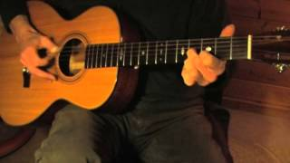 Goodmorning Blues - Brownie McGhee - Acoustic Fingerpicking Blues in E