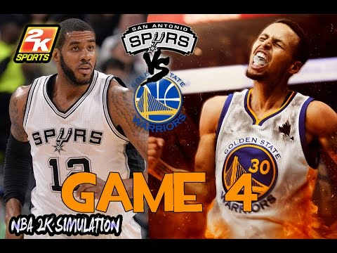 Golden State Warriors vs San Antonio Spurs - Game 4 - Full game | May 22, 2017 | NBA 2K17