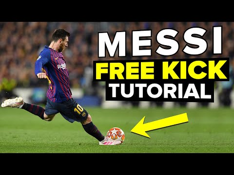 How To Shoot Free Kicks Like LIONEL MESSI | Learn Messi Skills