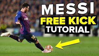 How to shoot free kicks like LIONEL MESSI | Learn Messi skills