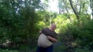 fat girl doing the truffle Shuffle