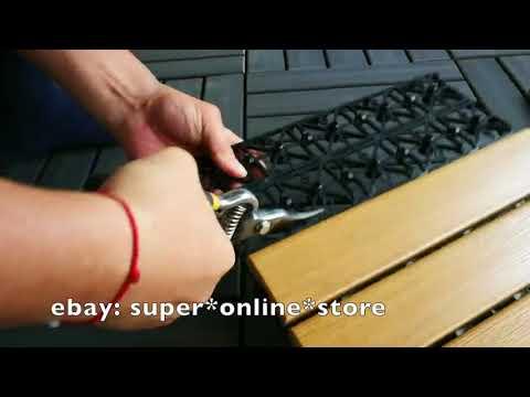 Customizer - Decking Tiles DIY Wooden Garden Timber Flooring Plastic Composite