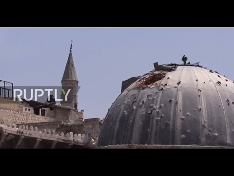 Syria: Guided tour of Aleppo's historic sites held for first time since city's liberation
