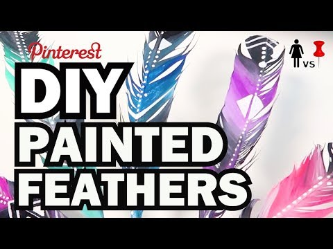 DIY Painted Feathers, Corinne VS Pin