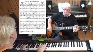 LET'S CALL THE WHOLE THING OFF - Jazz guitar & piano cover ( George & Ira Gershwin )