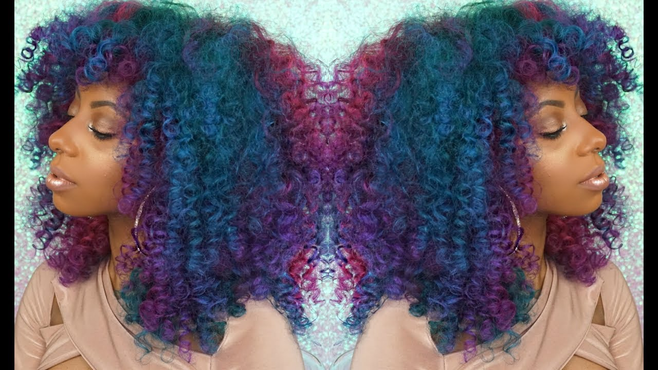 unicorn curls kinky curly rainbow