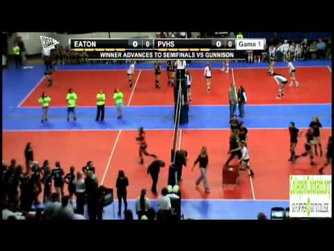 2012 CHSAA 3A Volleyball State Semifinal #1- Roaring Fork vs Platte Valley