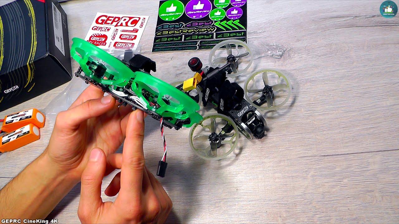 ✔ FPV Квадрокоптер GEPRC CineKing 4K 95mm 3-4S 2 Inch Caddx Tarsier! картинки