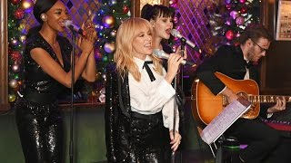 Kylie Minogue performed an intimate Christmas set at The Ivy...