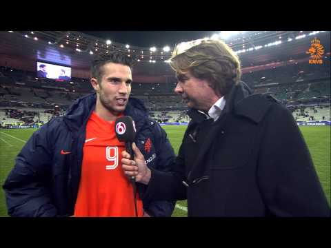 Interview Van Persie na Frankrijk-Nederland