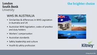 Workplace Health and Safety Legislation in Australia, mini lecture