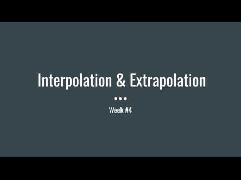 Interpolation & Extrapolation