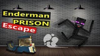 ENDERMAN PRISON ESCAPE - MINECRAFT MONSTER SCHOOL ANIMATION