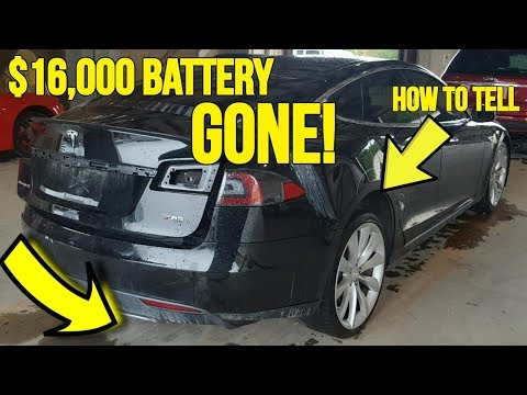 Teslas Selling at Auction are Missing $16,000 Battery Packs! Heres how it was discovered...