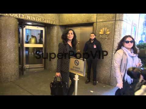 Sarita Choudhury at NBC Studios at Celebrity Sightings in...