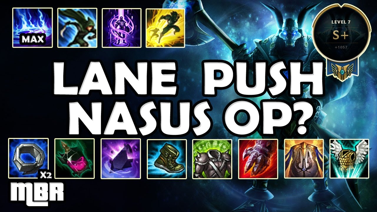 lane pushing nasus the new nasus vs chogath season 7 youtube rh youtube com Nasus Meme Lunar Nasus