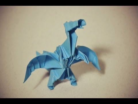 32 origami winged dragon by peter budai hungary part