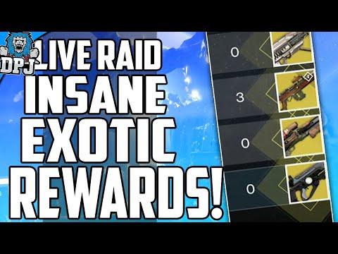 Destiny: INSANE RAID LIVE TEAM FUNNY REACTION! Most Exotic Drops So Far!!