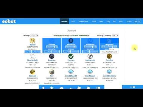 Добывать Bitcoin EOBOT Mining Bitcoin Американская платформа