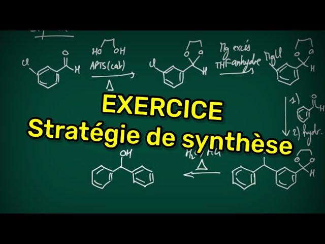 Exercice (Révisions PCSI) : Stratégie de synthèse