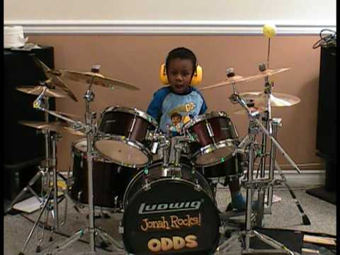 Michael Jackson -  Beat It,  Drum Cover, 4 Year old Drummer