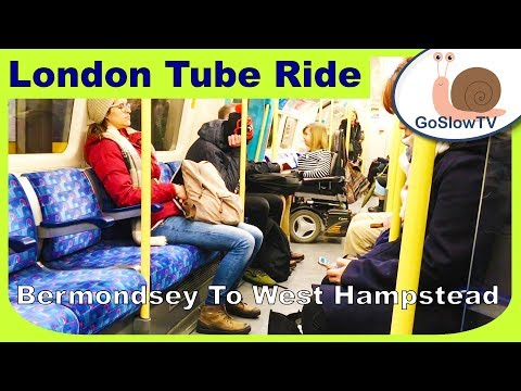 London Underground Tube Ride | Bermondsey To West Hampstead | Jubilee Line | Slow TV | Episode 76