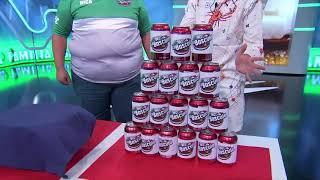 ¿Cuánto azúcar contiene una lata de refresco?
