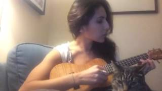 My first song on the Ukulele! - Gabrielle Ruiz and Veronica the cat