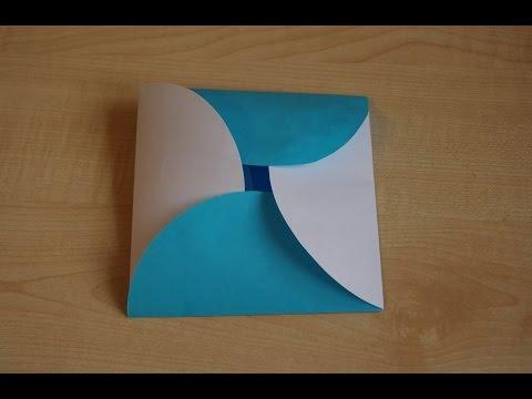 Как сделать подарочный конверт из бумаги своими руками. DIY.