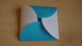 Как сделать конверт для открытки на день рождения из бумаги своими руками.