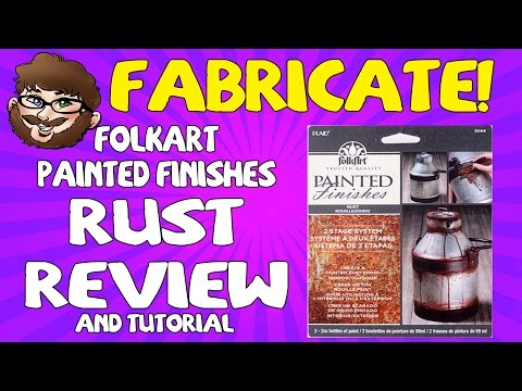 """Fabricate! – Folkart Painted Finishes Review """"Rust"""""""