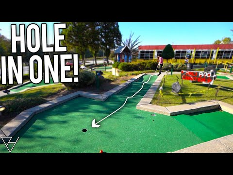 Lucky Mini Golf Hole in Ones At This Surprisingly Fun Mini Golf Course!из YouTube · Длительность: 16 мин29 с
