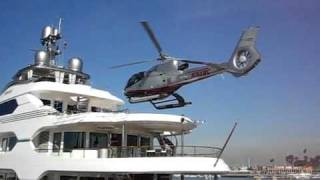 ATTESSA YACHT - HELICOPTER LANDING